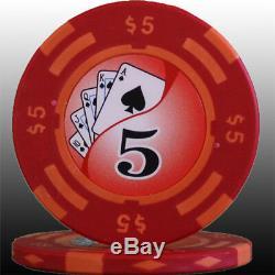 650 14g Las Vegas Casino Clay Poker Chips Set Y9 New Custom Build