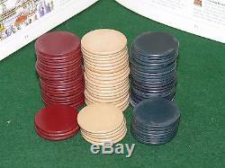 75 ANTIQUE Plain Clay Poker Chips Set