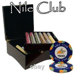 750 Ct Custom Breakout Nile Club Chip Set Mahogany Case