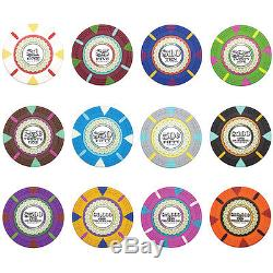 750 Piece The Mint 13.5 Gram Clay Poker Chip Set with Aluminum Case (Custom) New