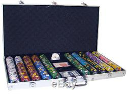 750 ct Kings Casino 14g Poker Chips Set with Case, 2 Decks, 5 Dice, Dealer Button