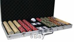 750ct. Nile Club Ceramic 10g Poker Chip Set in Aluminum Metal Carry Case