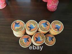 759-piece set of Chipco Egyptians! Rarely seen! Includes octagons, dealer chip