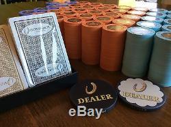 820 Cincinnati Horseshoe Paulson Poker Chips Tourney Set 500, 1000, 5000