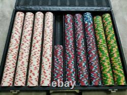950 USED PAULSON CLASSIC POKER CHIPS SET Out of production hard to find