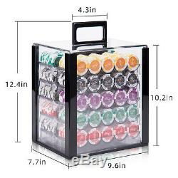 ALPS Monte Carlo Casino 1000pcs Poker Set with Acrylic Case / 13.5g Clay Chips