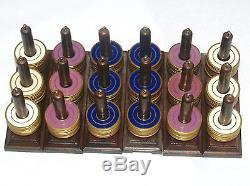 Antique Vintage Royal Flush Patent Poker Gaming Gambling Enamel Chip Set Case