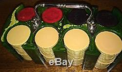 Antique Vintage Marble Swirl Catalin Bakelite Poker Chips Set Gambling/Game/Toy