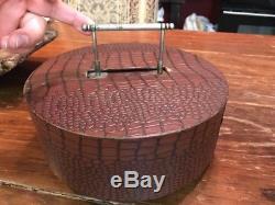 Antique Vintage Retro Clay Poker Chip Set Beautiful 250+ Chips Faux Leather Case