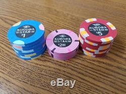 Aurora Star Cash Paulson Poker Chips $1 $2.50 and $5 THC Paulson Chips