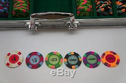 Authentic Paulson Classic Poker Chips Set of 499 in Case