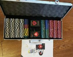 Authentic Pokerstars 500 Chips Complete Game Set With Carrying Case And Cards