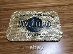 Aviation Club de France Poker Chips Plaque Set Rare & Iconic Paris Club