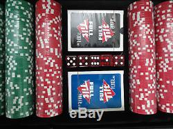 BRAND NEW 500 POKER CHIP SET FULL TILT POKER LOGO 11.9 G CLAY CASINO STYLE CHIPS