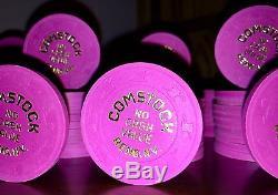 Beautiful RARE COMPTON RENO PAULSON HAT/CANE POKER CHIPS Set 100