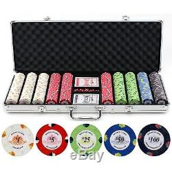 Best Poker Set / Features Great Sound And Feel Of Clay Chip With Metal Insert