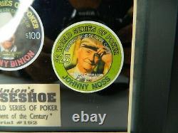 Binions 1999 World Series Poker Casino Chip Set Stu Ungar Johnny Moss B Binion