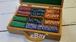 Boracay Ceramic Poker Chips Set 300 chips, wooden case, cards and accessories