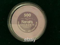 Brand New Paulson Poker Chips. Set of 461 Harrahs Cherokee Casino Chips