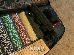 Brand new, unplayed Ducks Unlimited Poker Set with beautiful gun case