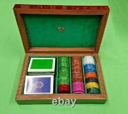 Briar Root Case Poker Chip Set by Dal Negro