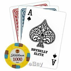 Brybelly 1,000 Ct Showdown Poker Set 13.5g Clay Composite Chips with Aluminum