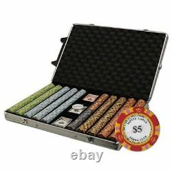 Brybelly 1000-Count Monte Carlo Poker Chip Set in Rolling Aluminum Case, 14gm