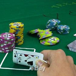 Brybelly 1000 Ct Showdown Poker Set 13.5g Clay Composite Chips with Acrylic