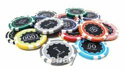 Brybelly 500 Count Eclipse Poker Chip Set Padded Aluminum Case
