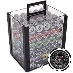 Brybelly Ultimate 14Gram Heavyweight Poker set of 1000 in Acrylic Display Case