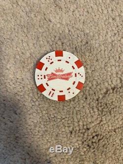 Budweiser Beer 500 Chip Briefcase Poker Set