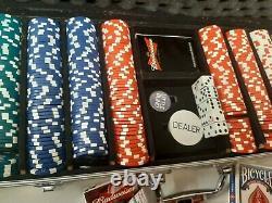 Budweiser Beer Bowtie Poker Chips Briefcase Poker Set