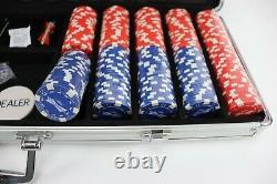 Budweiser Poker Set Case 500 Wrapped Chips A Deck of Cards Dealer Small Blind
