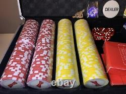 Budweiser Poker Set with Case 500 Wrapped Chips Two Decks Of Sealed Cards Beer