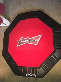 Budweiser Poker Table And Chip Set