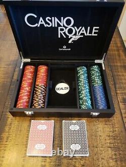 CASINO ROYALE JAMES BOND 007 200 CHIP POKER SET by CARTAMUNDI RARE