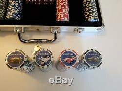 Carroll Shelby Mustang 500 Piece poker set withAluminum Case. (Cards, dice, chips)
