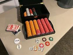 Cash game poker set with case