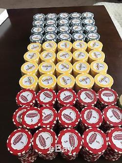 Casino Poker chip set with Paulson extra
