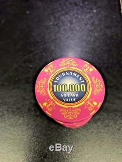 Ceramic Tournament poker chips (2100 ea) per set