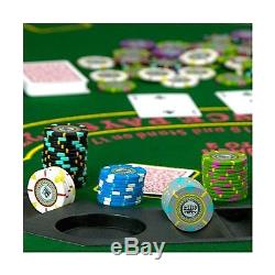 Claysmith Gaming 500-Count'The Mint' Poker Chip Set in Claysmith Aluminu. New