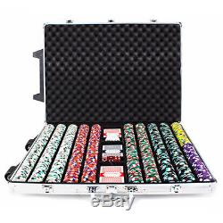 Claysmith Gaming Poker Knights Chip 1000 Count Set in Rolling Aluminum Case