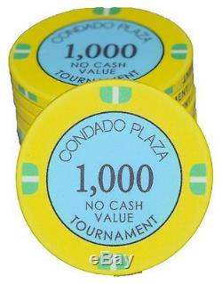 Condado Plaza Ceramic Poker Tournament Set 2340 Pieces with Chipco Racks