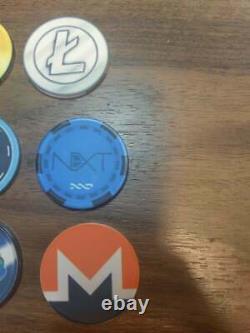 Crypto Altcoin Poker Chip Set Dogecoin Darkcoin Unobtanium Vericoin Bit coin btc