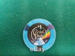 Crystal Park Casino (499 Pc) Used Poker Chips Set With Case