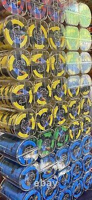 Crystal Park Casino -Poker Chip Set Sharp Clay Paulson Leaded Hat & Cane