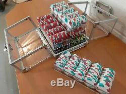 Custom Authentic Clay Poker Chip Set (600 Chips) White, Red, Green, and more