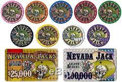 Custom Breakout 300 Ct Nevada Jack 10g Chip Set Aluminum