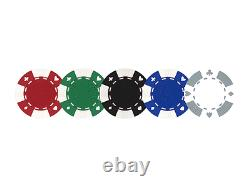 Custom Poker Chips Set Personliazed 3 Initials on Both Sides of Chips