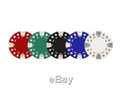 Custom Poker chip Set 4 Aces Image & Your Custom text on one side of the chips